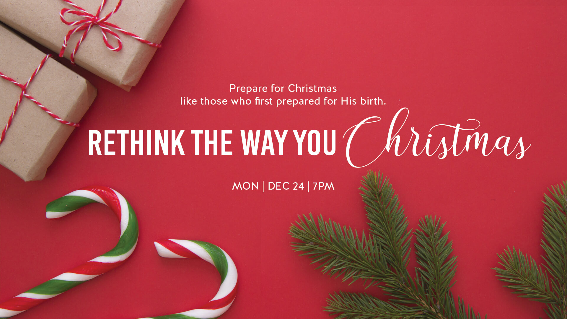 Prepare for Christmas like those who first prepared for his birth.